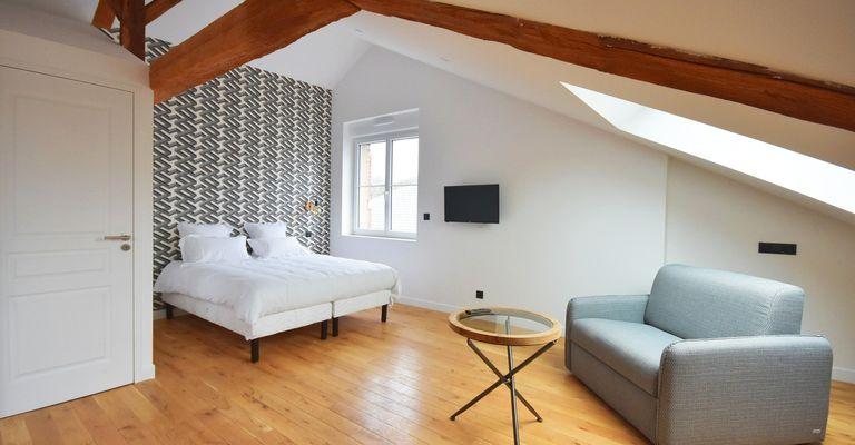 Chambre standard de notre offre d'hébergement Appart'Hôtel